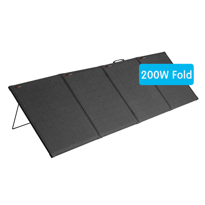 200W folding solar panel with simple mounting structure