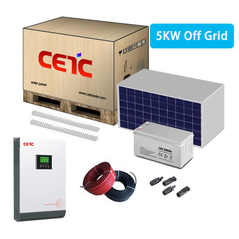 5KW small solar systems off grid with battery storage