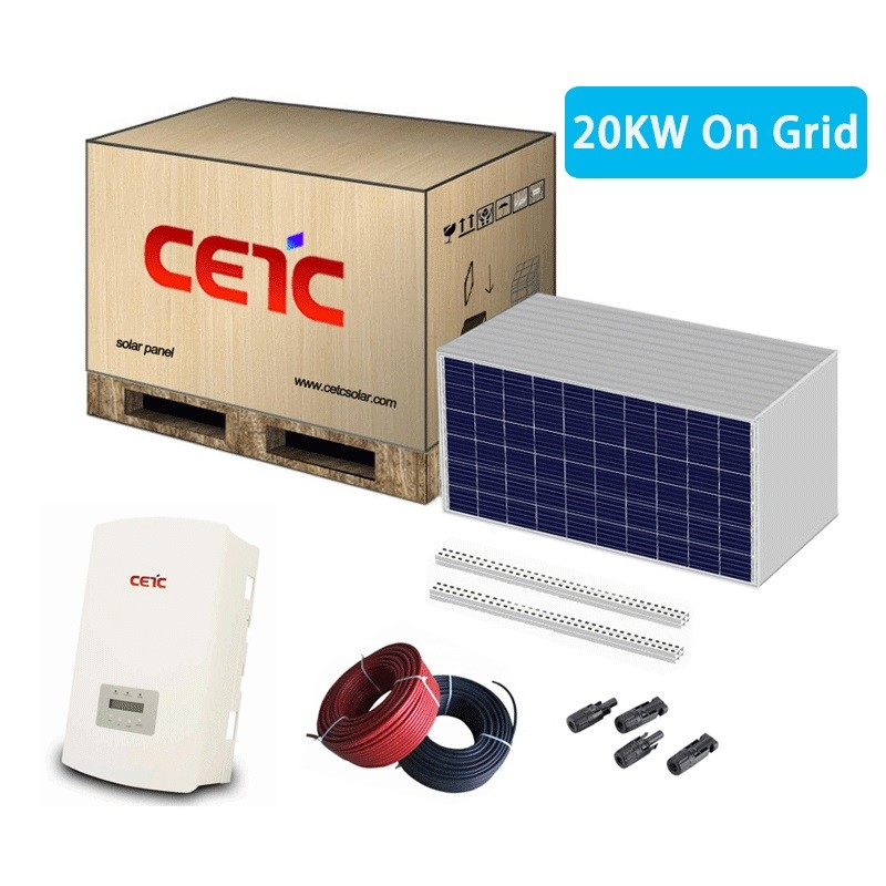 20KW on grid solar energy system for home lighting