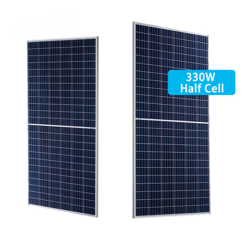330W half cell solar panel with good quality 144 cells