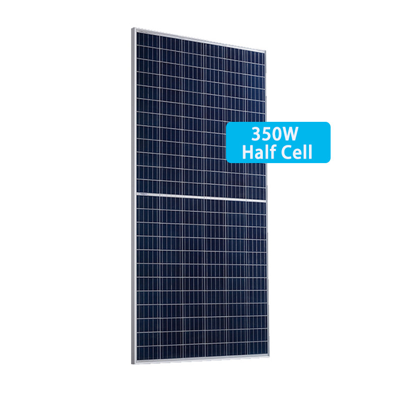 350W Poly half cell PV module manufacture directly