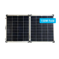 150W portable folding solar panel charger for battery