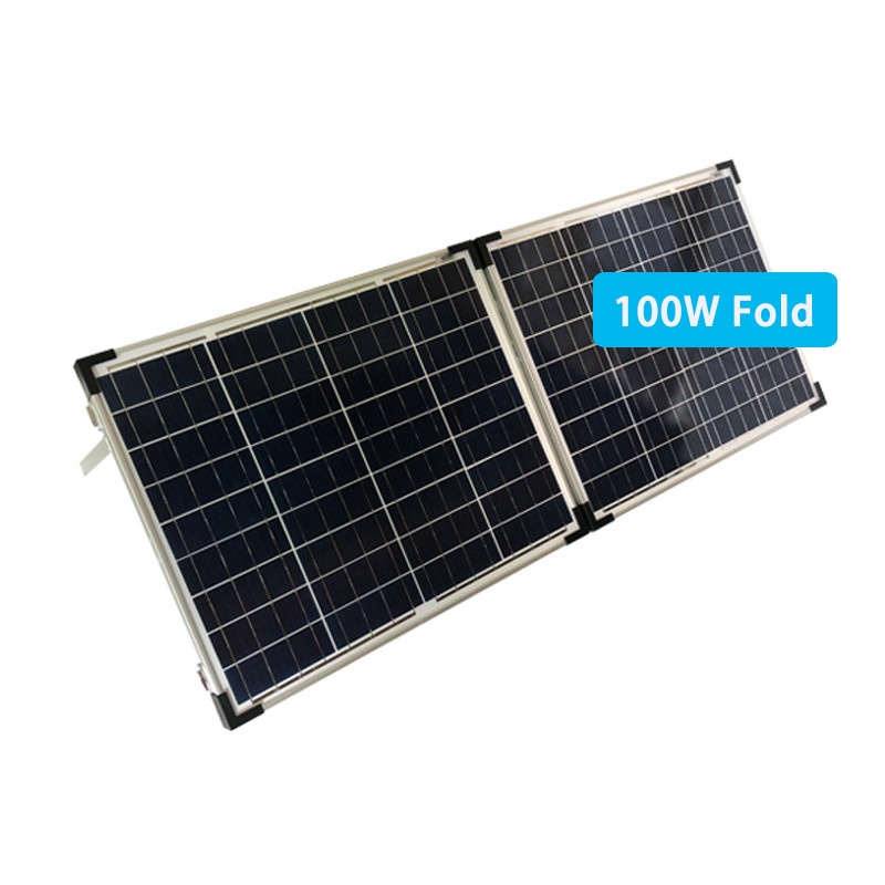 100W foldable solar panel charger for outside activity