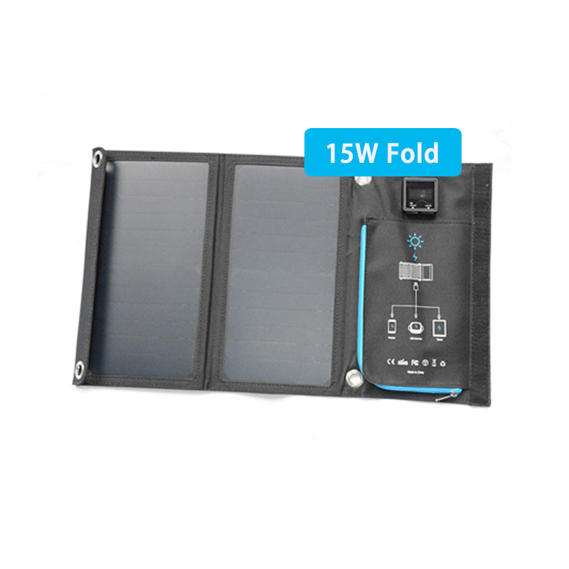15w fabric folded solar panel easy carry for outside activity