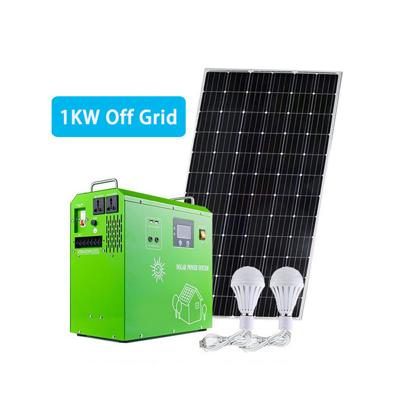Small 1KW off grid portable solar power kit system