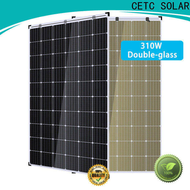 CETC SOLAR custom double glass solar modules supply for outdoor energy