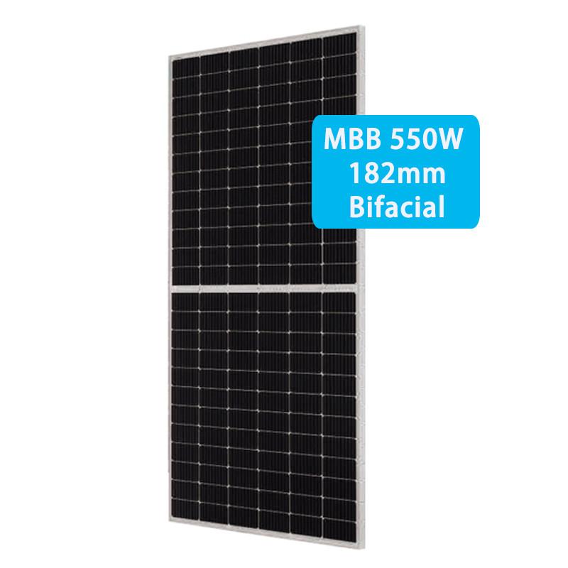 CETCSolar 525-550W Hot sale Bifacial Double Glass mono solar panels 182 MBB half cells