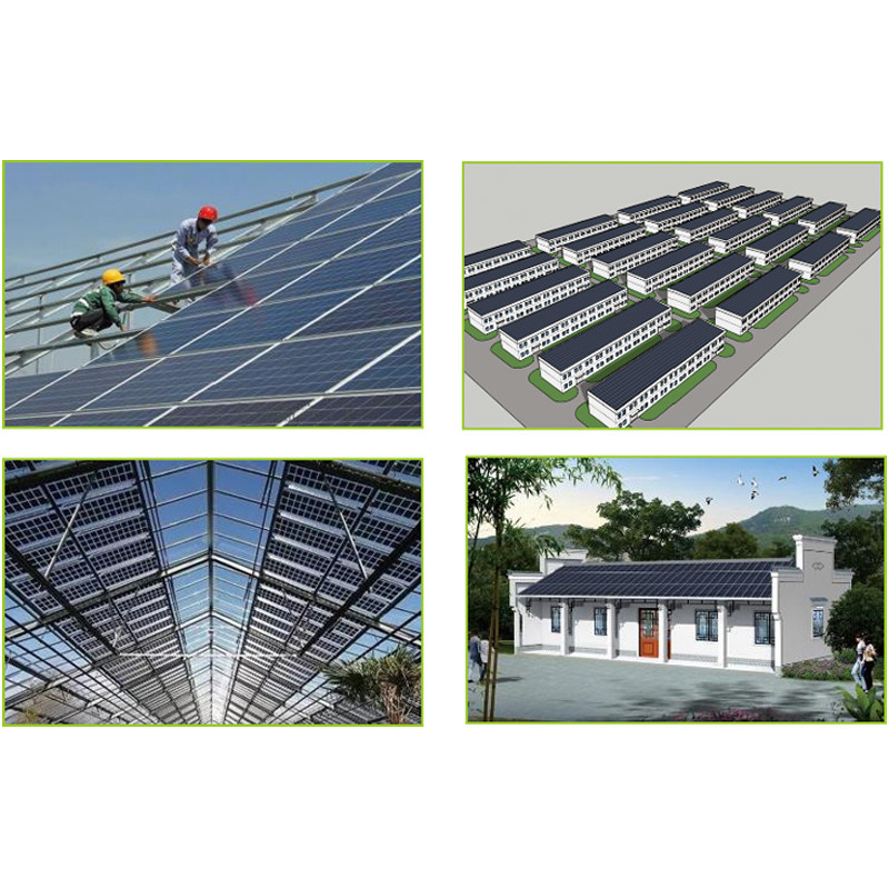 CETCSOLAR BIPV 375w 9BB solar panel mono with mounting structure