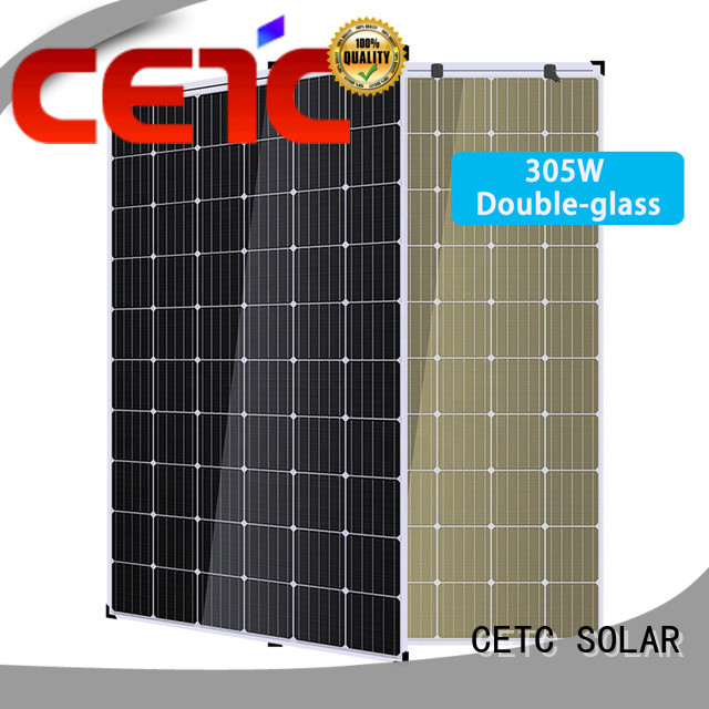 CETC SOLAR no frame double glass solar panel supply for outdoor energy