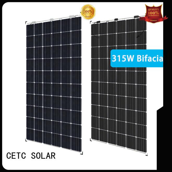 frameless bifacial solar panel supply for sale
