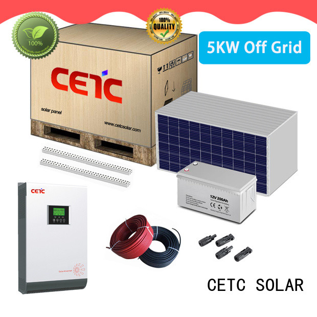 CETC SOLAR wholesale off grid solar system with battery storage for home