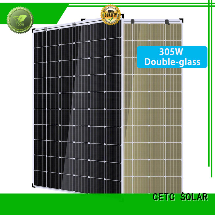 CETC SOLAR high-quality double glass solar modules supply for outdoor energy