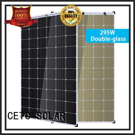 no frame dual glass solar module factory for outdoor energy